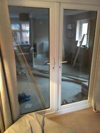 UPVC double French doors, excellent condition