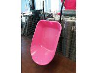 Plastic 85L wheelbarrow choice of colours