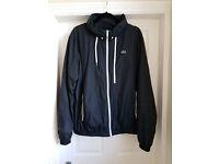 Lacoste Men's Black Hooded Windbreaker Jacket Size 58