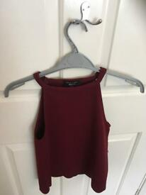 New look burgundy top