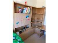 Storage and shelving units for bedroom or study