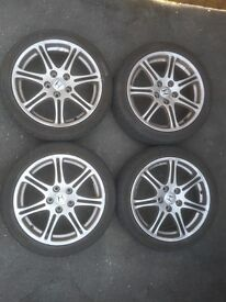 HONDA 17 INCH ALLOY WHEELS AND TYRES