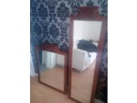 2 x Antique type mirrors, excellent condition