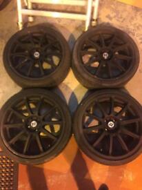 """4 x 18"""" Alloy wheels"""