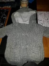 Baby girls heavy hooded cardigan