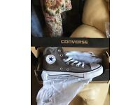 Brand new size 5 converses grey