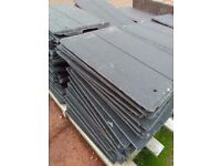 New Lothian roof tiles, anthracite. complete with clips and nails + vent tile kit and ridge tiles