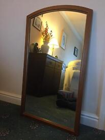 Mirrors with wooden frames