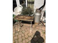 Vintage cast iron garden indoor table