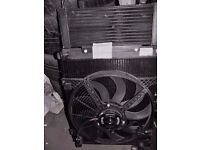 NEW ROVER 400 45 MGZR AUTOMATIC GENUINE RADIATER FAN AND OIL COOLER WITH HOT CLIMATE FAN
