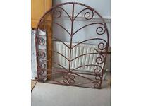 Front patio garden entrance metal gate W:96.5cm H:115cm