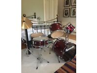Tornado Drum Kit (Red). Very good condition.