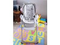 Chicco Polly grey chick highchair