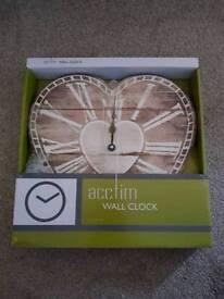Acctim heart wall clock
