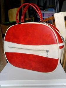 """Vintage Red Weekenders Bag Tote Mid-Century / 1960s / key / oakville 16x12x6"""""""