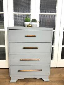 Lovely midcentury Chest of Drawers Free Delivery Ldn shabby chic/ vintage