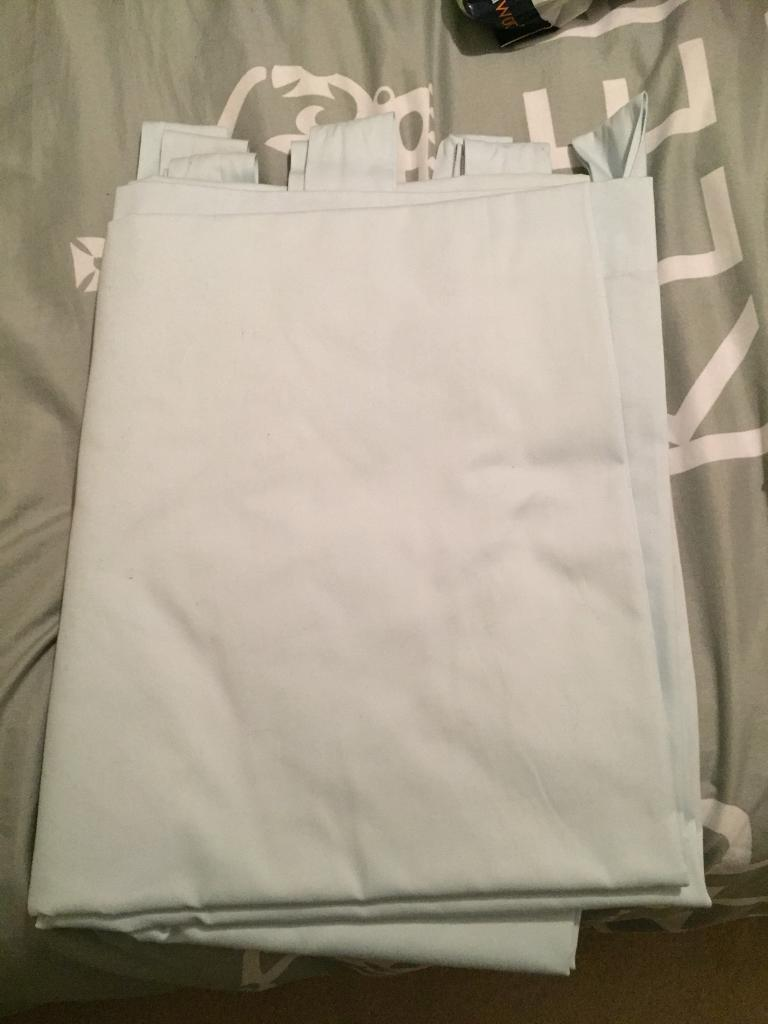 Arctic Blue Curtains in good condition - 135 x 183