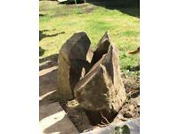 3 pieces Yorkshire stone different sizes