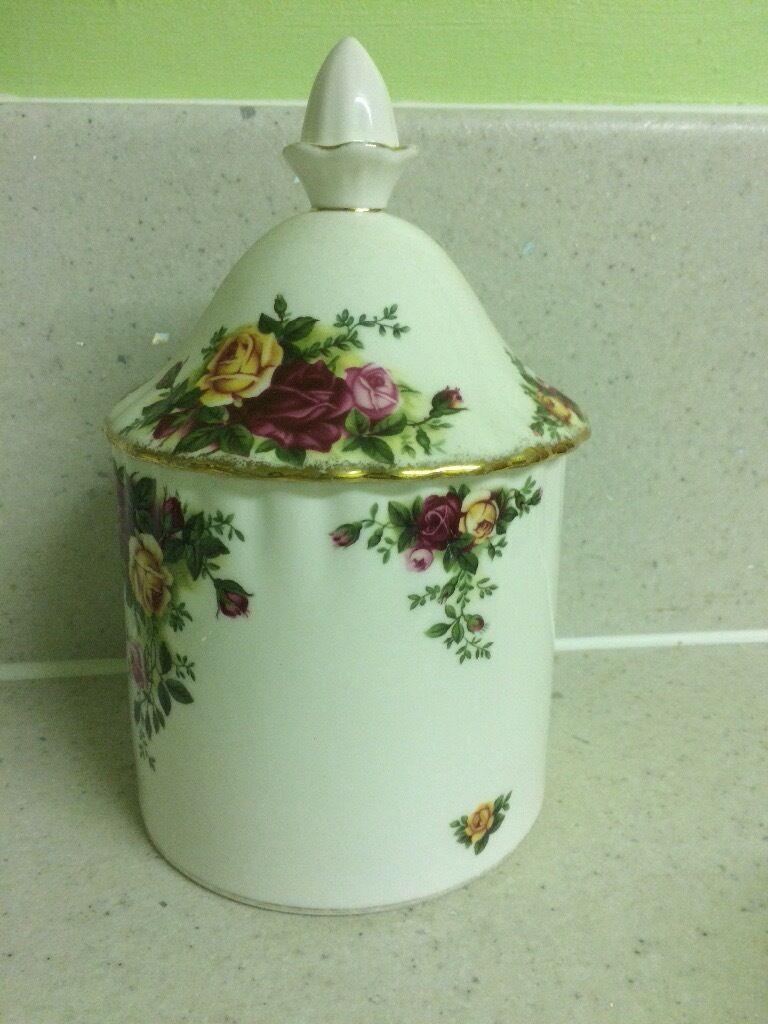 Royal Albert canister