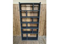 BLACK Zig Zag pigeon holes bookcase delivery vintage furniture upcycle paint Farrow UK gplanera