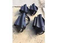 Roof Rails and Thule Foot Pack for Open Rail Car