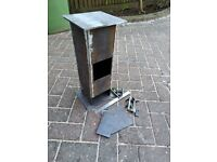 Half-finished wood burner for campervan, motorhome, small space, or boat (stove, fireplace, heater)