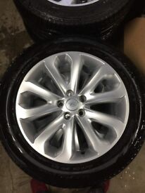 """GENUINE OEM LAND RANGE ROVER HSE VOGUE DISCOVERY ALLOY WHEELS WITH PIRELLI SCORPION VERDE TYRES 20"""""""