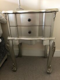Silver rococo French antique bedroom furniture