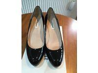 Ladies Shoes - Black Heels (L.K. Bennett). Size 38.5. Almost new.