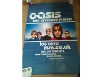 oasis massive promo poster seeks keyboard players 60 x 40 and tour prog