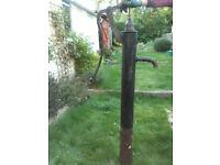 Cast iron antique style replica hand pump garden decoration
