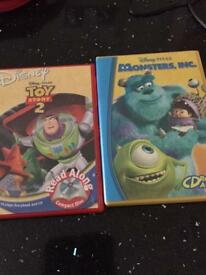 Monsters Inc and Toy Story 2 read along cd books