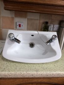 Red ring water heaters and basin