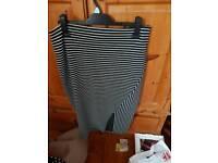 Stripe Midi skirt size 14