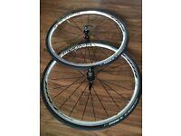 Bontrager Race 700c road bike wheelset [front & rear] plus tyres