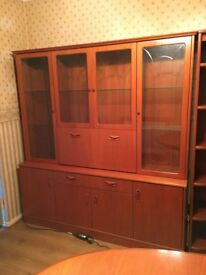 G Plan Teak Sideboard and Glass Cabinet