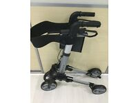 DAYS DELUXE LIGHTWEIGHT FOLDING ROLLATOR 4 Wheel MOBILITY WALKER WITH SEAT