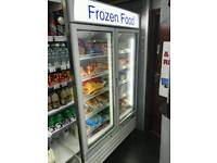 Upright led convenience store freezer, only 12months old. Paid £3.5k