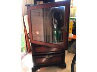 HiFi Cabinet dark mahogany veneer