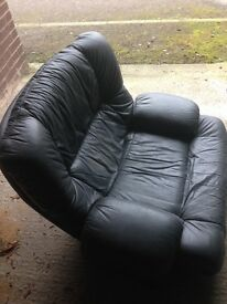 Leather armchair green