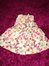 Girls butterfly dress 4-6 months