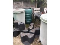 3 X Water Butts complete with Stands & Taps