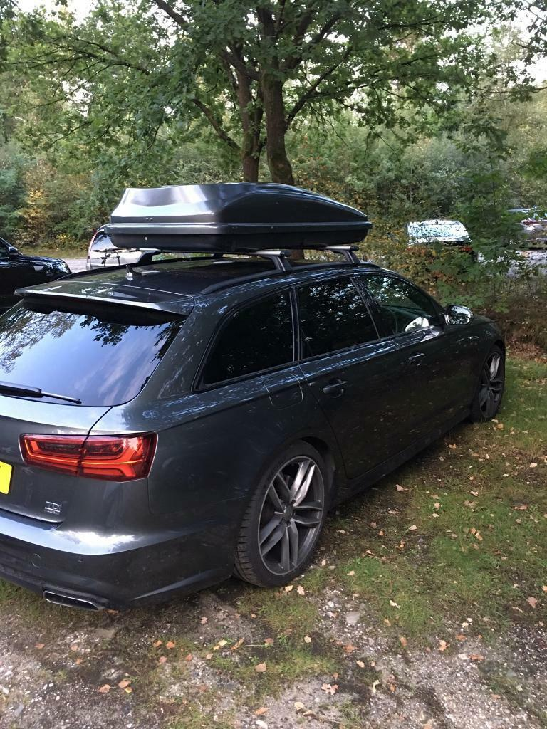 420l audi dolphin grey roofbox roof box fits to thule. Black Bedroom Furniture Sets. Home Design Ideas