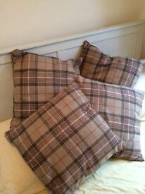 Tartan cushions x4 from Next. Excellent condition
