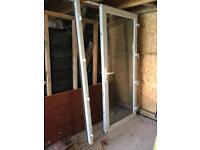 Upvc double glazed door white