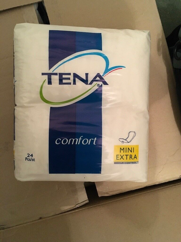TENA Comfort Mini extra hygiene pads packs of 24 unopened