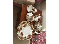 Royal Albert country rose tea set