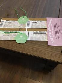 Ladies day west tip tickets x2