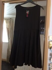 Black Skater Dress size 18