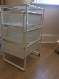 Ikea White Drawer Unit, perfect under desk or to organise papers and small items